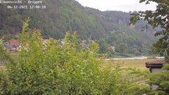 view from Webcam in Bad Schandau Sächsische Schweiz on 2021-06-12