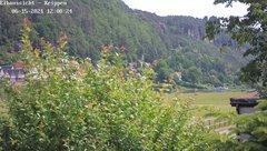 view from Webcam in Bad Schandau Sächsische Schweiz on 2021-06-15