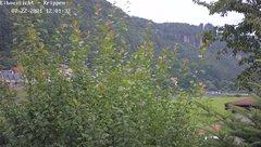 view from Webcam in Bad Schandau Sächsische Schweiz on 2021-07-22