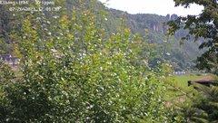 view from Webcam in Bad Schandau Sächsische Schweiz on 2021-07-26