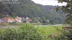 view from Webcam in Bad Schandau Sächsische Schweiz on 2021-07-28