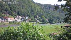 view from Webcam in Bad Schandau Sächsische Schweiz on 2021-07-31