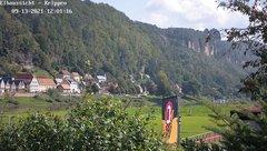 view from Webcam in Bad Schandau Sächsische Schweiz on 2021-09-13