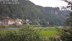 view from Webcam in Bad Schandau Sächsische Schweiz on 2021-09-15