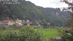 view from Webcam in Bad Schandau Sächsische Schweiz on 2021-09-20