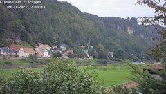 view from Webcam in Bad Schandau Sächsische Schweiz on 2021-09-21