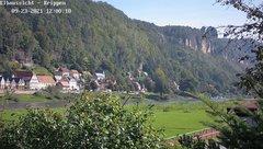 view from Webcam in Bad Schandau Sächsische Schweiz on 2021-09-23