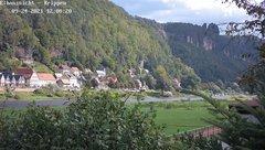 view from Webcam in Bad Schandau Sächsische Schweiz on 2021-09-24