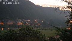 view from Webcam in Bad Schandau Sächsische Schweiz on 2021-09-26