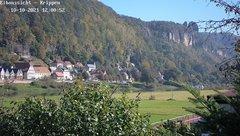 view from Webcam in Bad Schandau Sächsische Schweiz on 2021-10-10