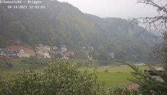 view from Webcam in Bad Schandau Sächsische Schweiz on 2021-10-14