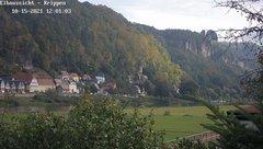 view from Webcam in Bad Schandau Sächsische Schweiz on 2021-10-15