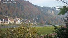 view from Webcam in Bad Schandau Sächsische Schweiz on 2021-10-27