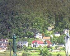 view from Webcam in Bad Schandau, Krippen & Postelwitz on 2021-07-12