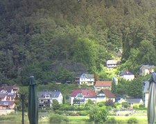 view from Webcam in Bad Schandau, Krippen & Postelwitz on 2021-07-15