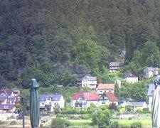 view from Webcam in Bad Schandau, Krippen & Postelwitz on 2021-07-21
