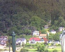 view from Webcam in Bad Schandau, Krippen & Postelwitz on 2021-07-27
