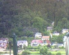 view from Webcam in Bad Schandau, Krippen & Postelwitz on 2021-07-28