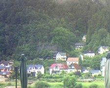 view from Webcam in Bad Schandau, Krippen & Postelwitz on 2021-08-02
