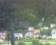 view from Webcam in Bad Schandau, Krippen & Postelwitz on 2021-09-18
