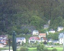 view from Webcam in Bad Schandau, Krippen & Postelwitz on 2021-09-21