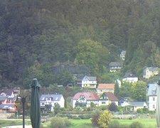 view from Webcam in Bad Schandau, Krippen & Postelwitz on 2021-10-11