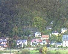 view from Webcam in Bad Schandau, Krippen & Postelwitz on 2021-10-13