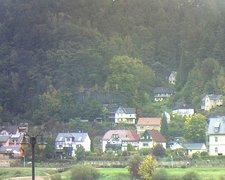 view from Webcam in Bad Schandau, Krippen & Postelwitz on 2021-10-14