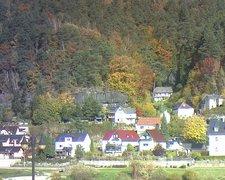 view from Webcam in Bad Schandau, Krippen & Postelwitz on 2021-10-25
